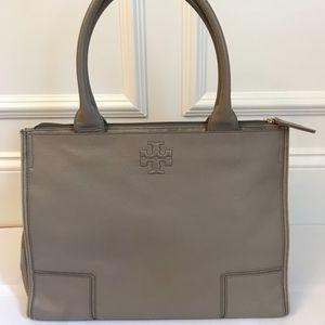 Tory Burch - Ella Leather Canvas Tote Bag